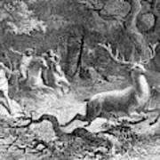 Bronze Age, Hunting Scene Art Print