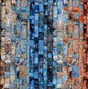 Bronze Blue Wall Art Print