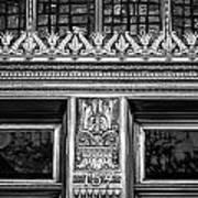 Bronze Crowns In Black Art Print