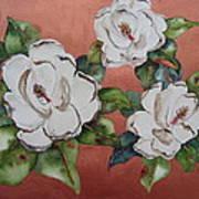 Bronze Magnolia Art Print