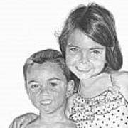Brooke And Carter Art Print