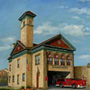 Brookline Historical Engine House Art Print