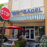 Brooklyn Bagel Restaurant In Delray Beach. Florida. Art Print