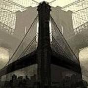 Brooklyn Bridge Abstract Art Print