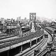 Brooklyn Bridge And Terminal - 1903 Art Print
