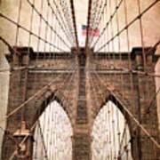 Brooklyn Bridge Approach Art Print