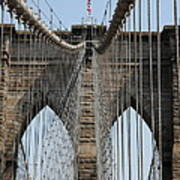 Brooklyn Bridge Cables Nyc Art Print