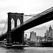 Brooklyn Bridge Circa 1955 Art Print