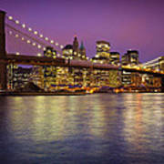 Brooklyn Bridge Art Print by Inge Johnsson