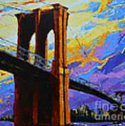 Brooklyn Bridge New York Landmark Art Print