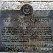 Brooklyn Bridge Plaque Art Print