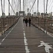 Brooklyn Bridge Walkway Art Print