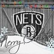 Brooklyn Nets Art Print by Joe Hamilton