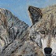 Brother And Sister Wolves Art Print
