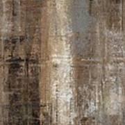 Slender - Grey And Brown Abstract Art Painting Art Print