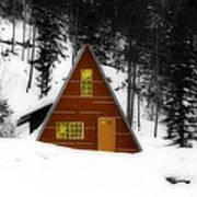 Brown Cabin  Art Print