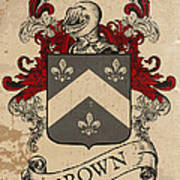 Brown Coat Of Arms - Scotland Art Print