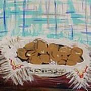 Brown Eggs In A Basket Art Print