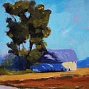 Brown Farm Landscape Art Print