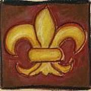 Brown Fleur De Lis Art Print