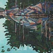 Brown Island Greens Art Print