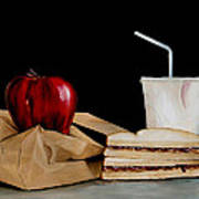 Brown Lunch Bag Art Print