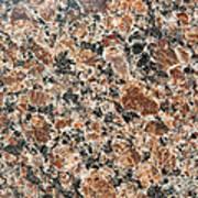 Brown Red Granite  Art Print
