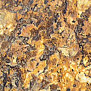 Brown Stone Abstract Art Print