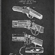 Browning Rifle Patent Drawing From 1921 - Dark Art Print