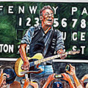 Bruce Springsteen At Fenway Park Art Print