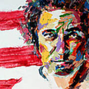 Bruce Springsteen Print by Derek Russell
