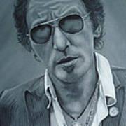 Bruce Springsteen IIi Art Print by David Dunne