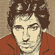 Bruce Springsteen Pop Art Art Print