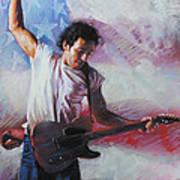 Bruce Springsteen The Boss Art Print