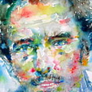 Bruce Springsteen Watercolor Portrait.1 Art Print by Fabrizio Cassetta