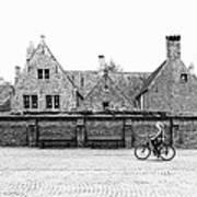 Bruges Cyclist Art Print