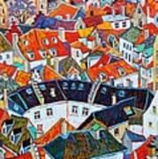 Bruges Rooftops Art Print