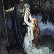 Brunhilde Knelt At His Feet, From The Art Print