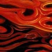 Brush Strokes In Red Art Print