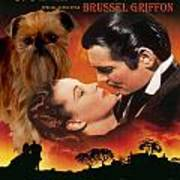 Brussels Griffon Art - Gone With The Wind Movie Poster Art Print