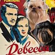 Brussels Griffon Art - Rebecca Movie Poster Art Print