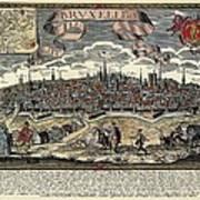 Brussels In 17th C. Engraving. � Art Print