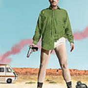 Bryan Cranston As Walter White  @ Tv Serie Breaking Bad Art Print