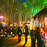 Bryant Park Evening Art Print