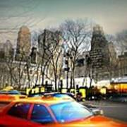 Bryant Park Taxi Print by Diana Angstadt