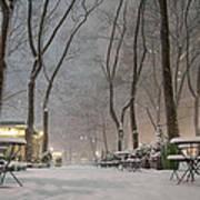 Bryant Park - Winter Snow Wonderland - Art Print