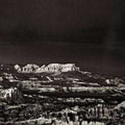 Bryce Canyon Formations In Black And White Art Print
