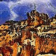 Bryce Canyon Thuderstorm Art Print