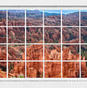 Bryce Canyon White Picture Window View Art Print