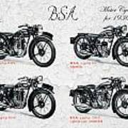 Bsa Motor Cycles For 1936 Art Print